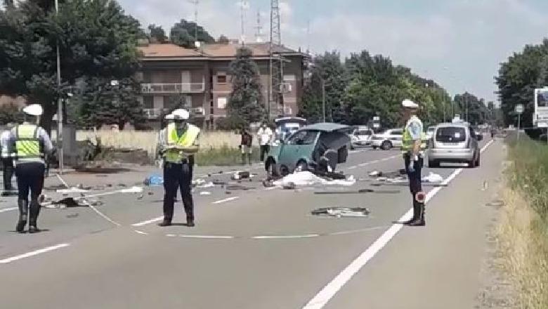 Aksident tragjik në Itali! Makina ndahet më dysh, ndërron jetë ...
